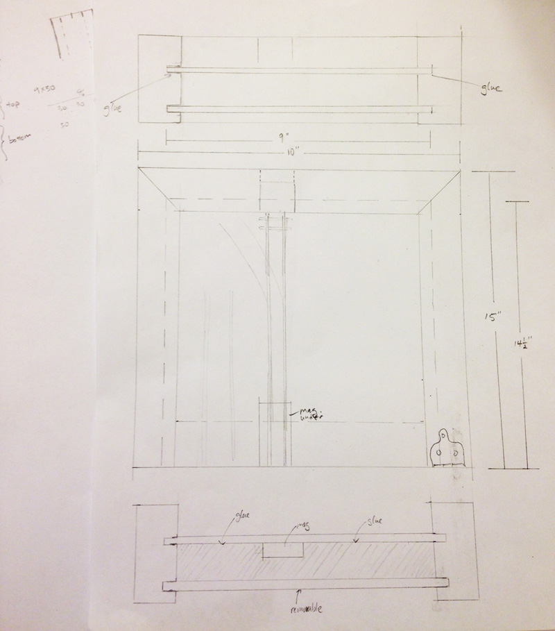 Sketch of frame/box